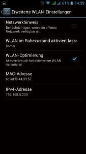 Android Netzwerkhinweis deaktivieren
