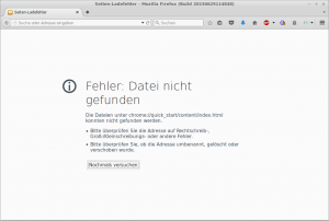 Fehler Firefox