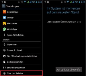 Android Update Funktion