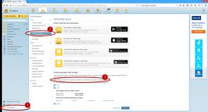 Screenshot der WEB.DE-Postfacheinstellungen zum Abruf von E-Mails durch externe E-Mail-Programme