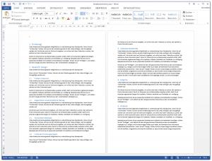 Word Inhaltsverzeichnis - Überschriften mit Formatvorlagen formatieren