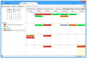 Screenshot mehrerer Kalender in Thunderbird Lightning