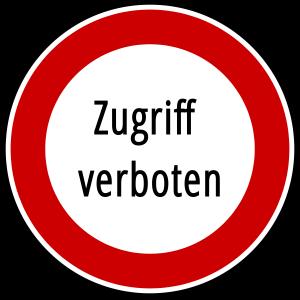 Zugriffsrechte Zugriff verboten