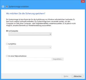 Systemabbildsicherung Screenshot