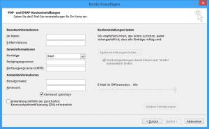 Manuelle Einrichtung von GMX in Outlook