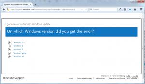 Windows Update Fehlercode Referenz