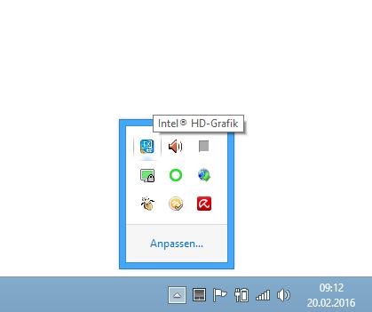 igfxtray Icon im Infobereich