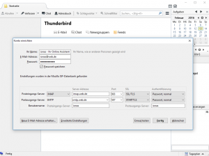 Manuelle E-Mail-Konfiguration in Thunderbird
