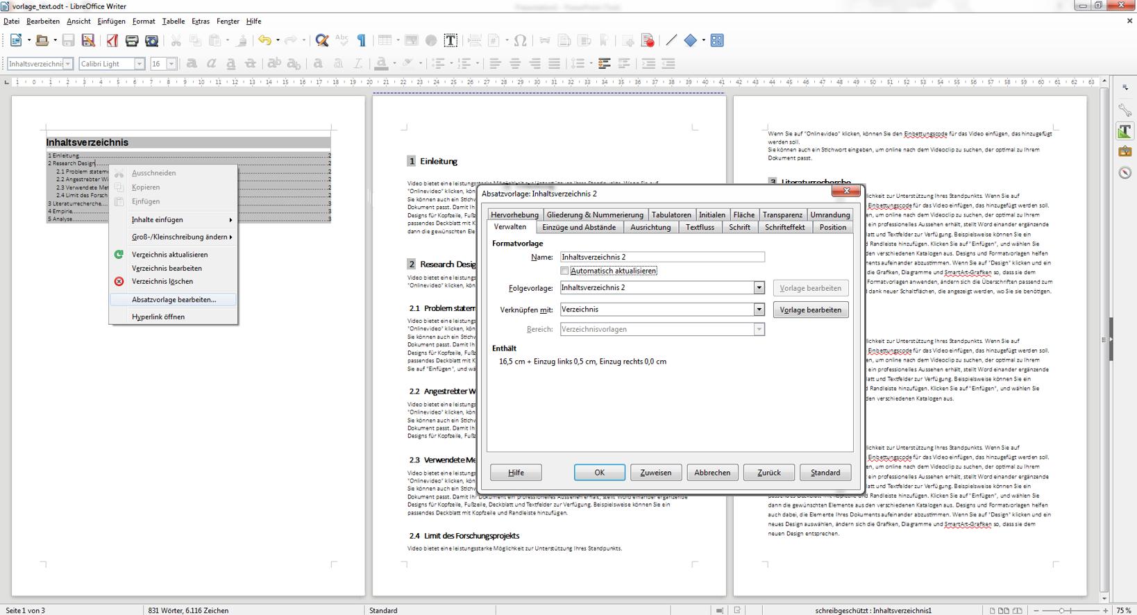 LibreOffice Inhaltsverzeichnis automatisch erstellen - Kurzanleitung ...