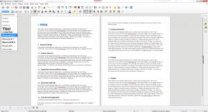 Deklaration von Überschriften in LibreOffice