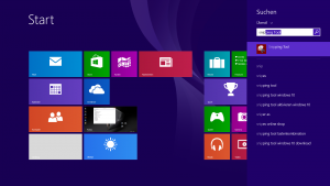 Start des Snipping Tools in Windows 8