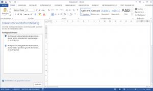 Datenwiederherstellung verlorener Daten in Office Programmen