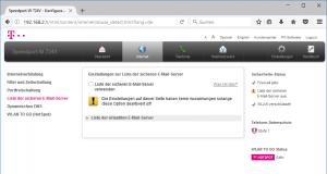 Liste sicherer Mail-Server bei einem Speedport W 724V