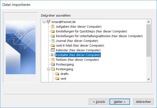 Outlook umziehen erfordert auch den Umzug von Terminen und Kontakten