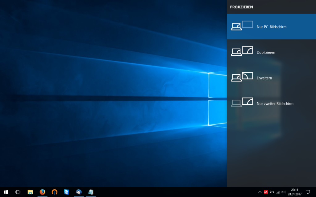 Projezieren-Menü in Windows 10
