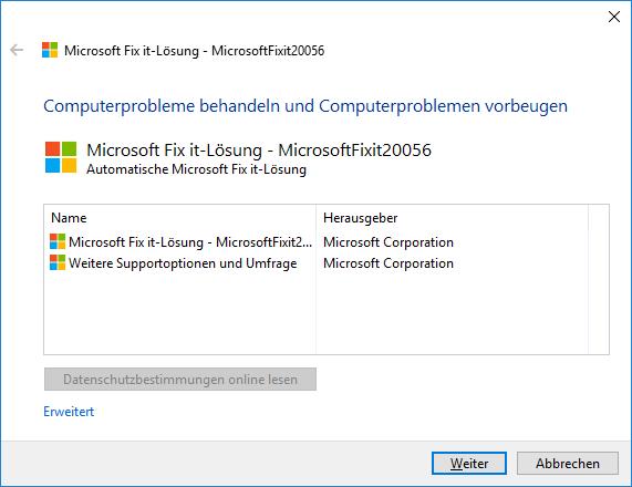 Mit dem Microsoft Fixit 20056 lassen sich Probleme mit Links in Outlook beheben