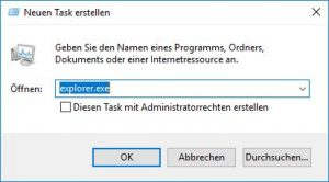 Windows Explorer manuell starten